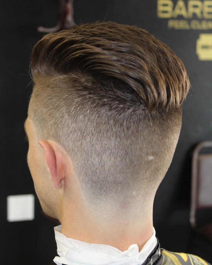 Combed Back With Tapered Undercut