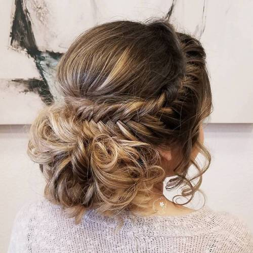 Curly Bu With Crown Fishtail