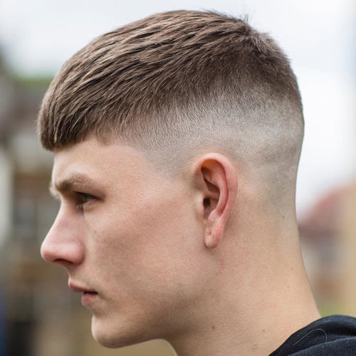French Crop With High Bald Fade