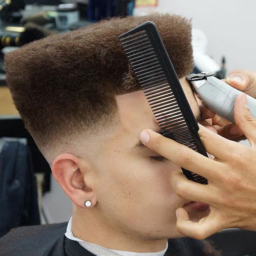 High Flat Top With Mid Temp Fade
