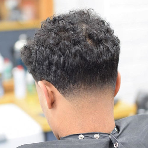 Messy Curls With Low-Neck Taper