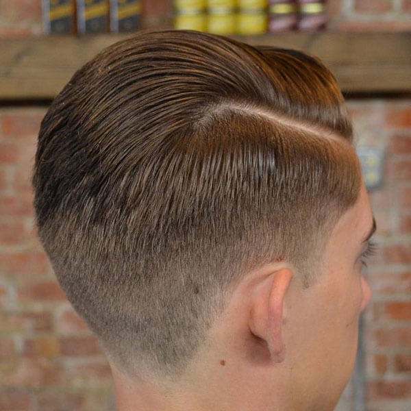 Taper Fade With Side Swept Top