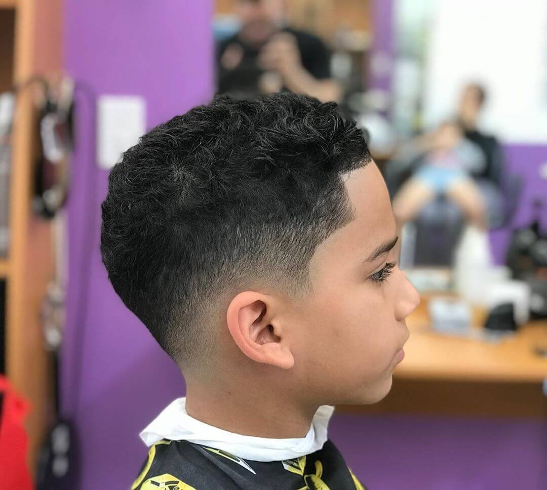 Casual Messy Hair With Side Fade