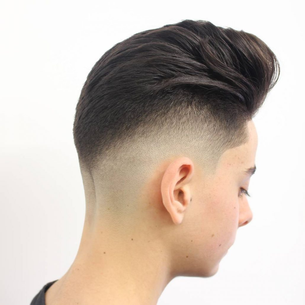 Classic Pompadour With Angle Fade