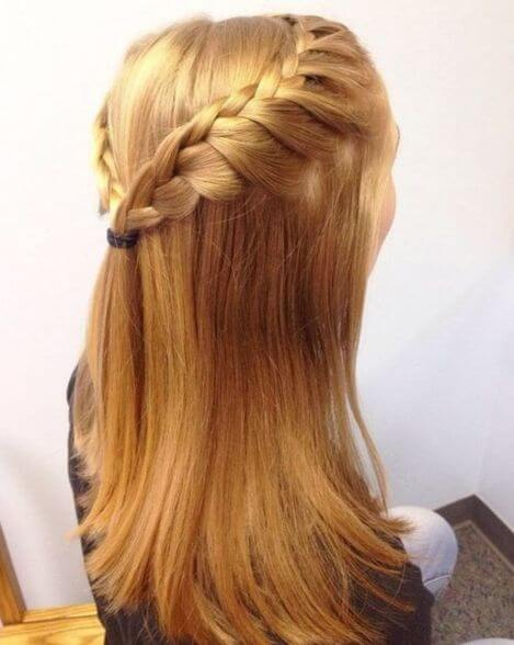 Braided Crown With Long Open Hair