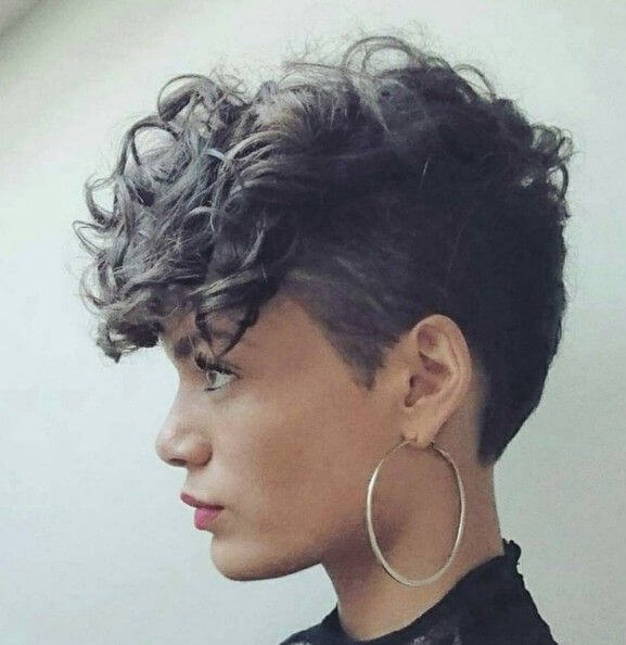 Curly Pixie Mohawk