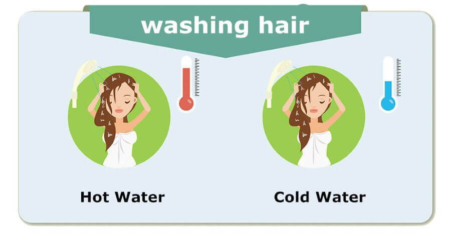 Rinse Hair Using Cold Water