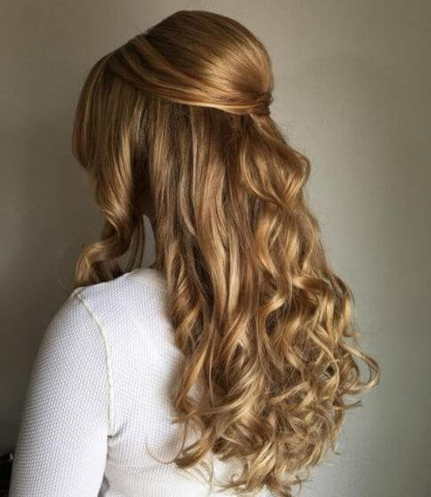 Royal-Approved Half Up Hairstyle