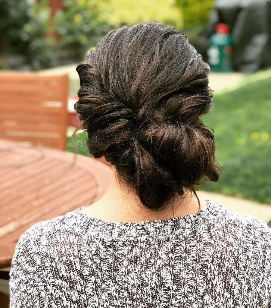 Thick Rope Braid With Side Bun