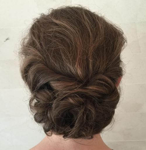 Tucked Hair Bun With A Twist
