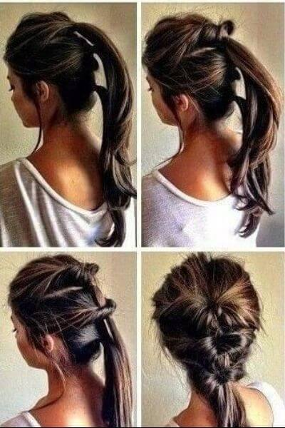 Twist Braided Ponytail