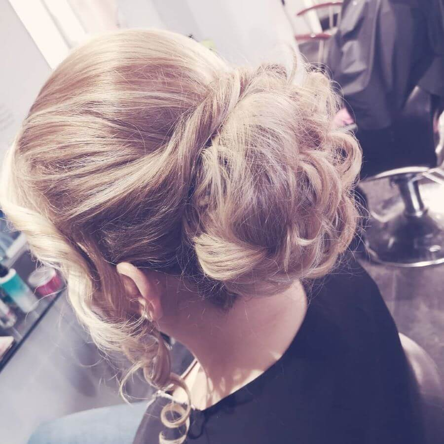 Twisted Bangs With Knitted Bun