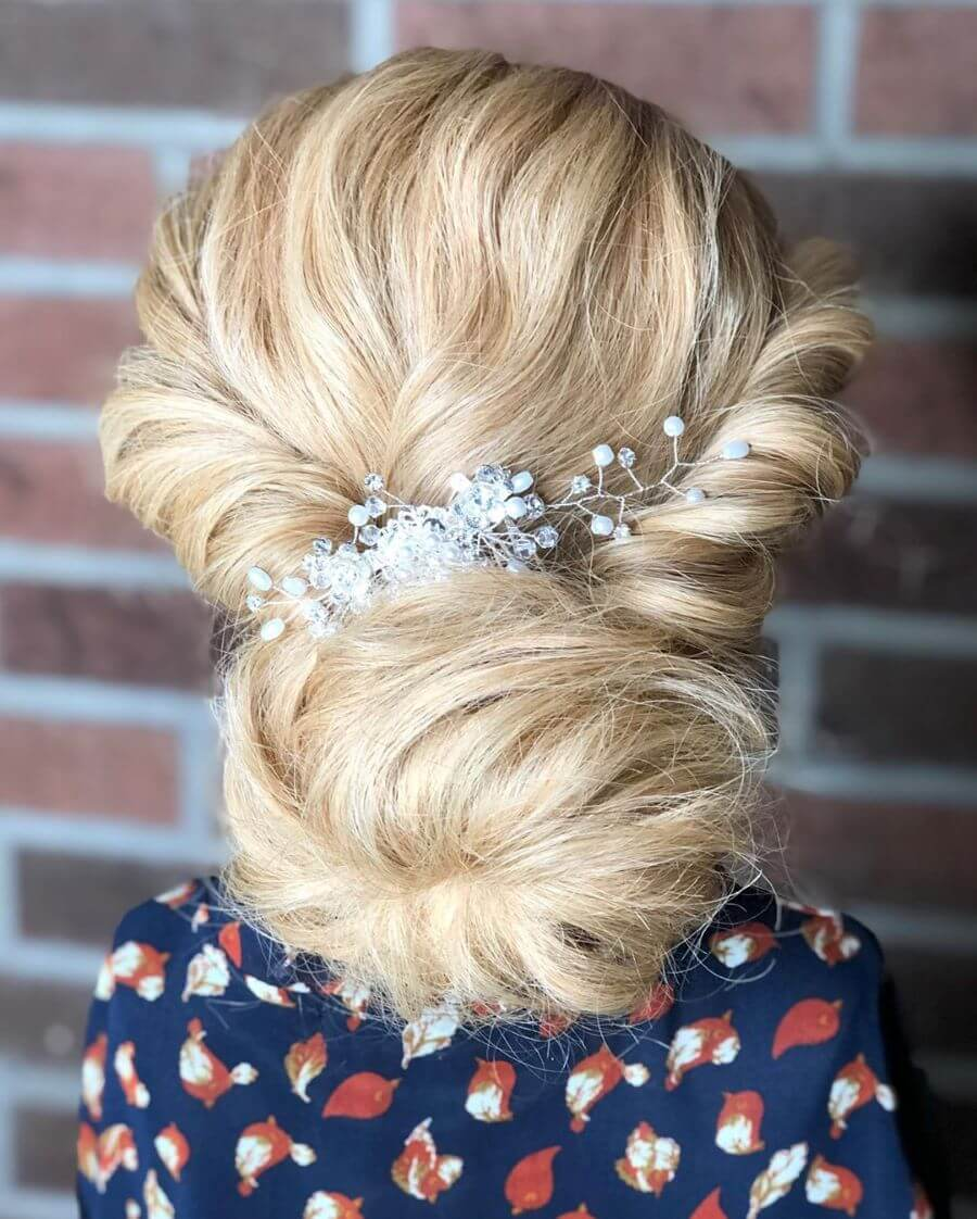 Twisted Braids With Chignon