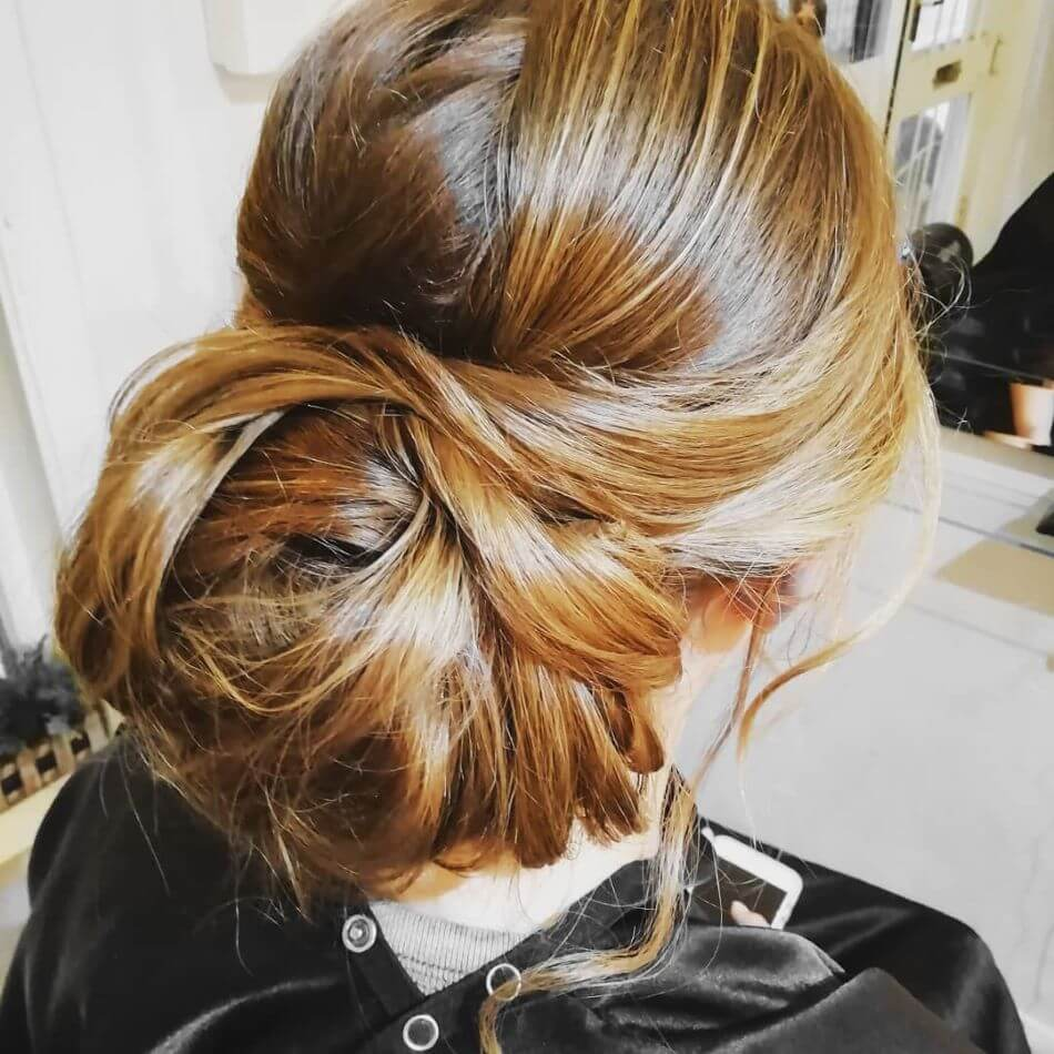 Updo Hairstyle With A Big Bun
