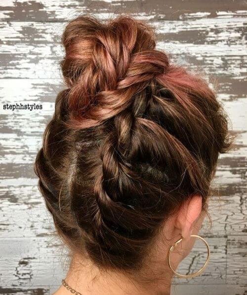 High Hair Bun With Cool Twists