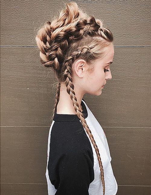 Inverted Braid Hairstyle