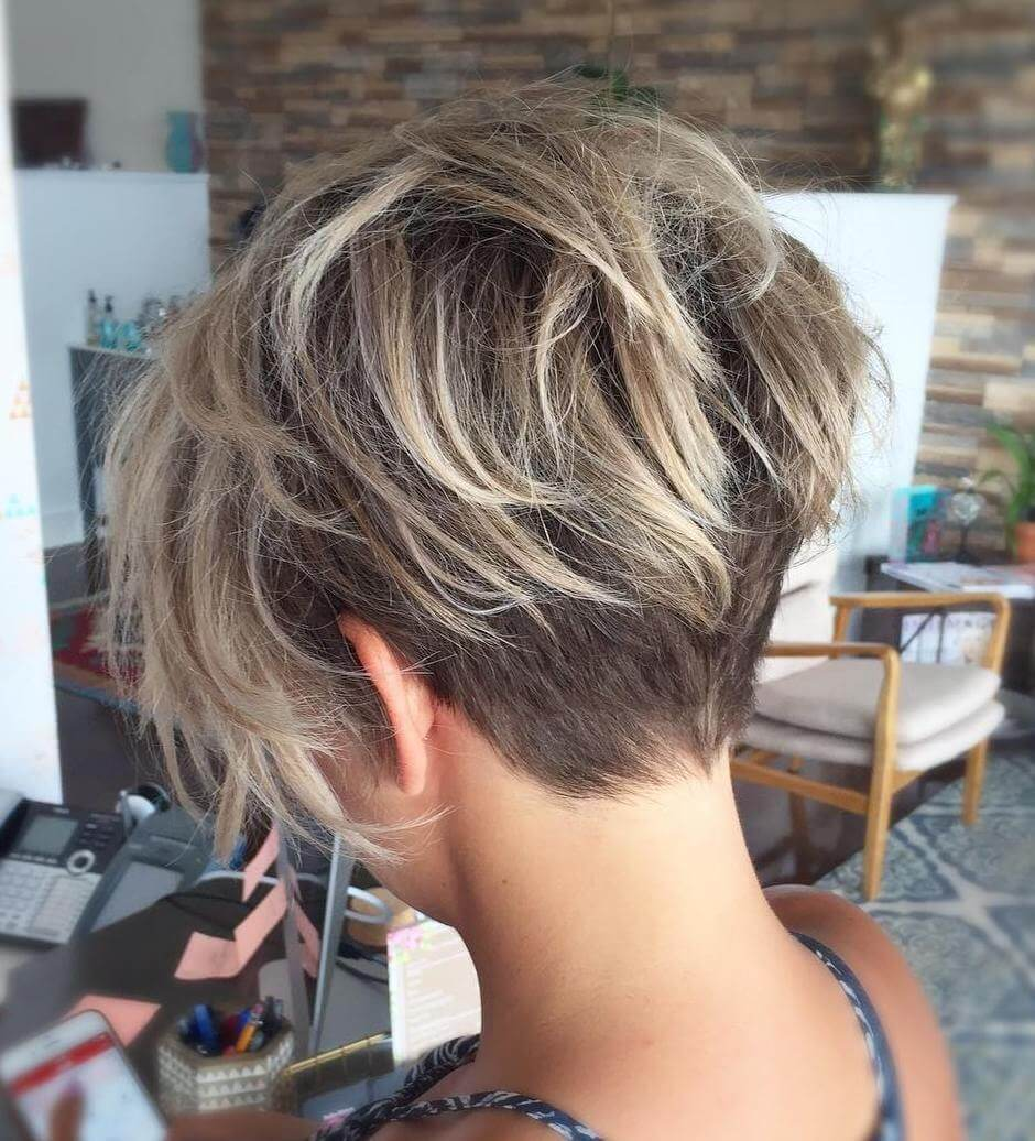 Pixie Hairstyle With Nape Undercut