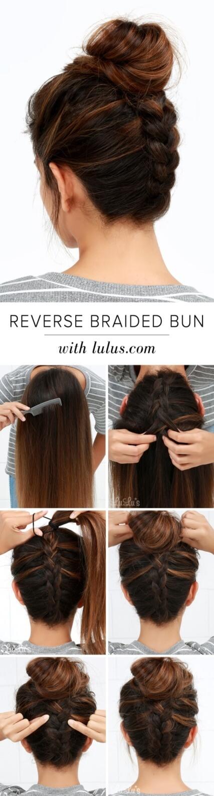 Reverse Braided Bun