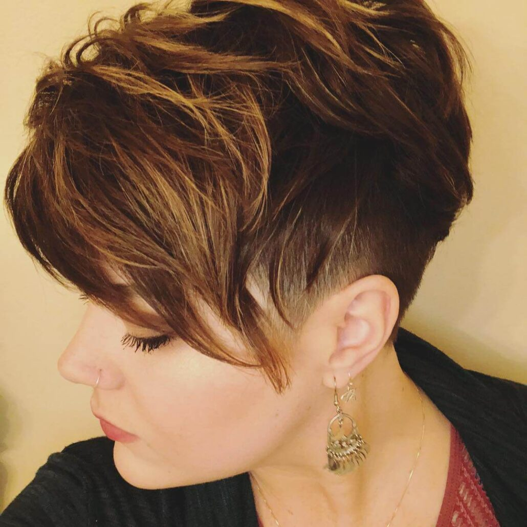 Asymmetrical Choppy Pixie