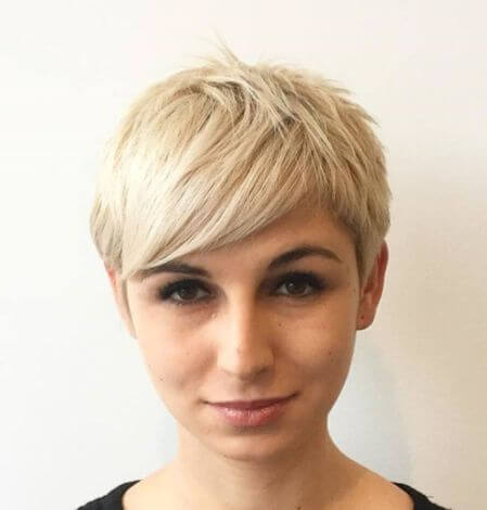 Choppy Pixie Haircut With Longer Bangs