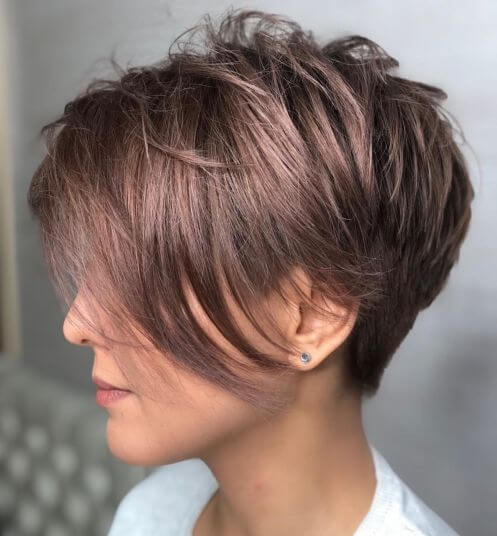 Feathered Tapered Pixie Cut