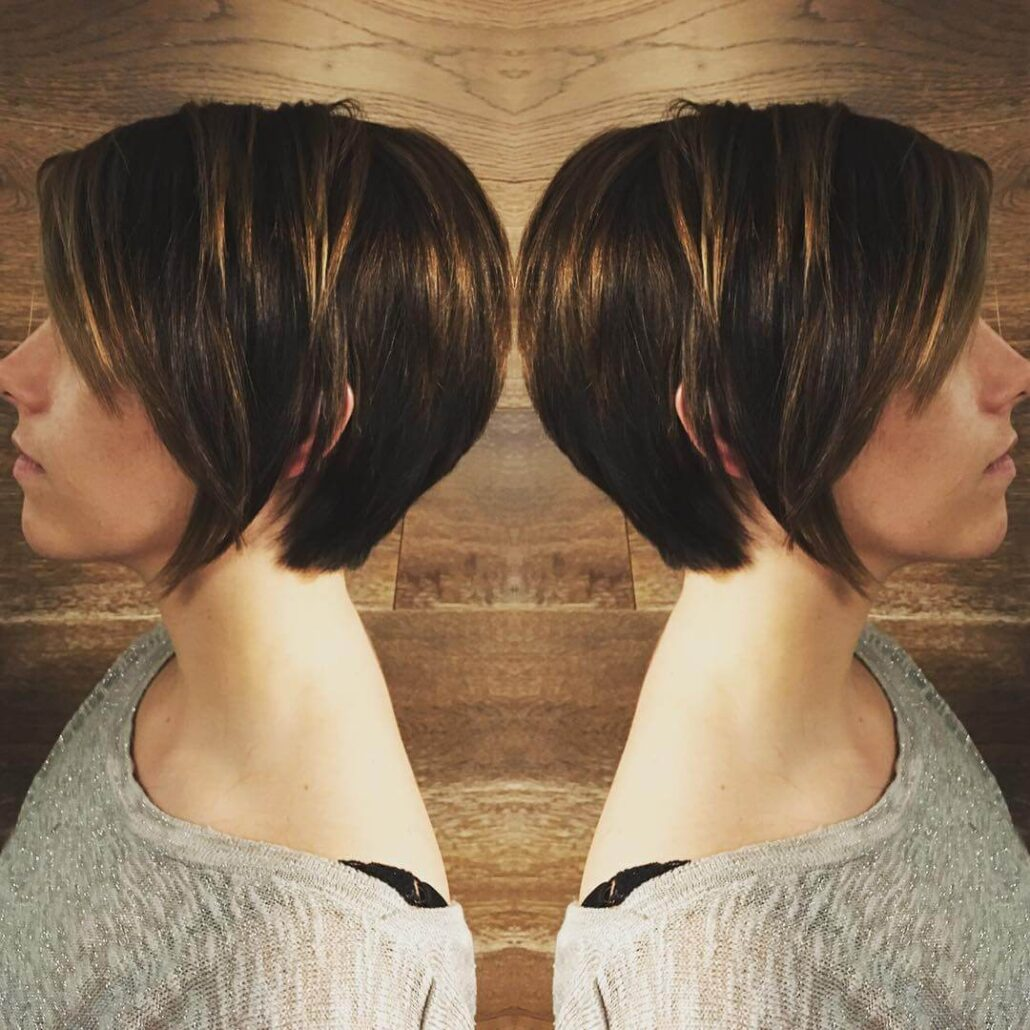 Long Pixie Haircut With Dimensional Layers