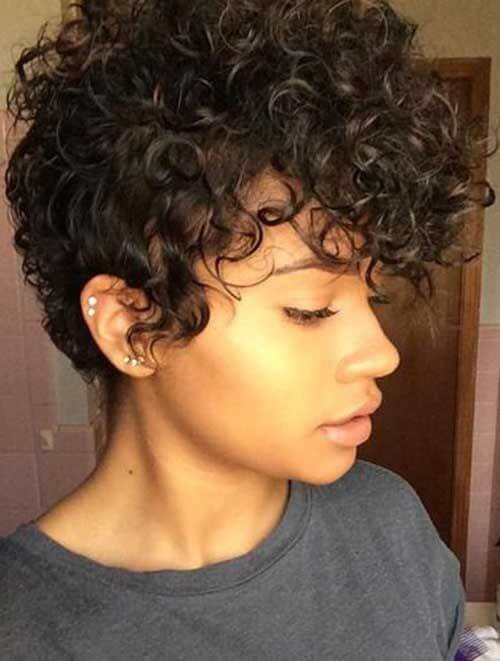Pixie Haircut With Curly Top