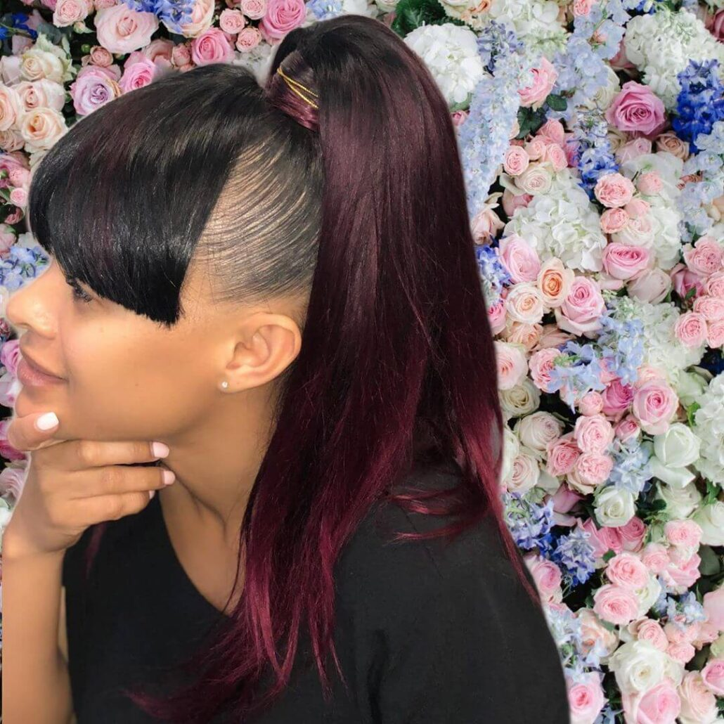 Extravagant Bangs With High Ponytail