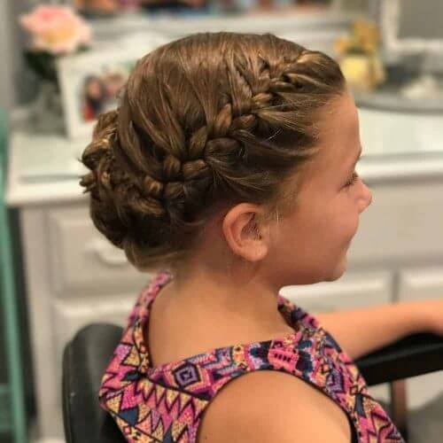 French Braided Bangs Updo