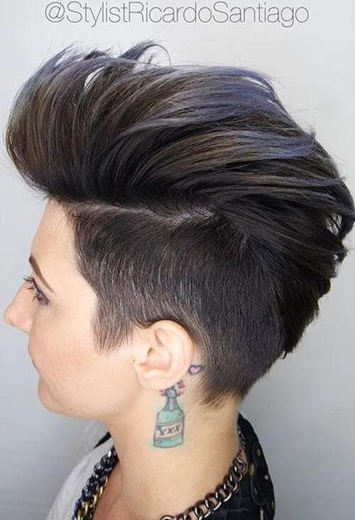 Highlighted Faux Hawk
