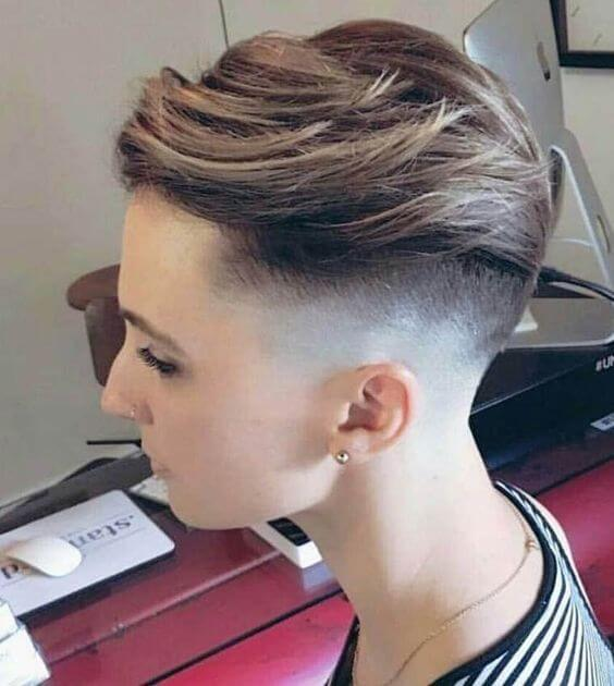 Zero Fade Pixie Haircut