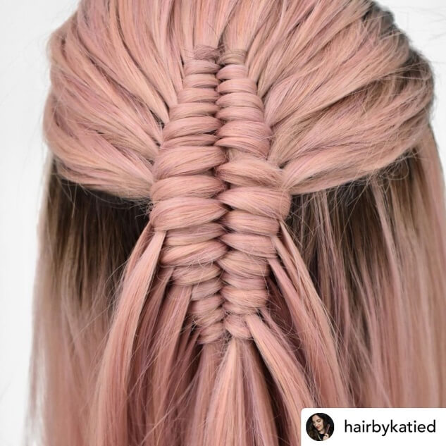 Combed Back Hairstyle With Twisted Braid