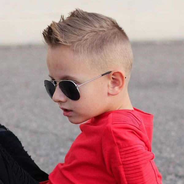 Cool Short Faux Hawk With Fade