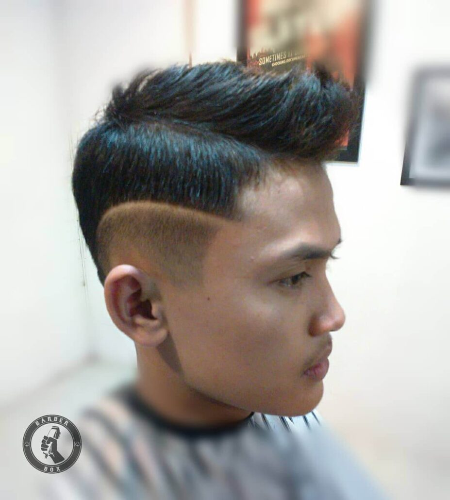 Faux Hawk With Disconnected Fade