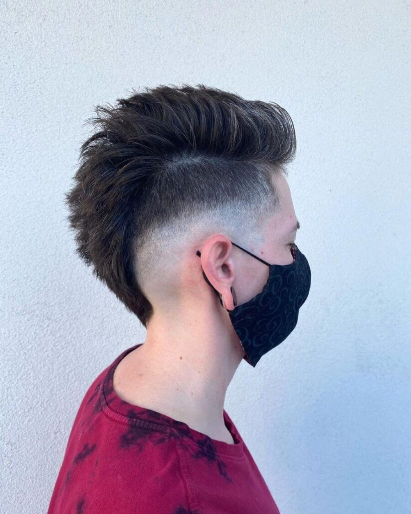 Fauxhawk With Mid Fade