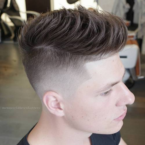 Front-Combed Faux Hawk With Undercut