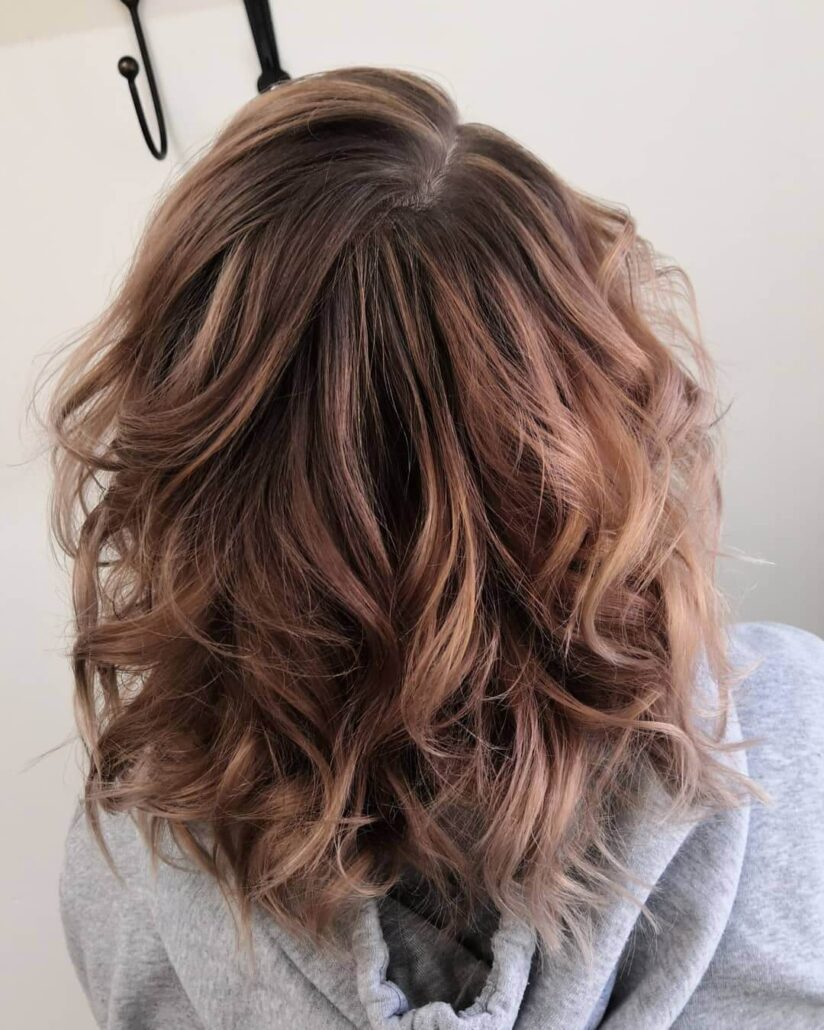 Light Brown Wavy And Messy Back