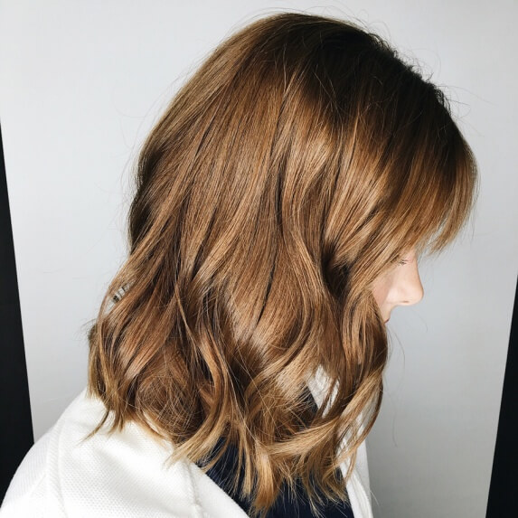 Light Chocolate Brown Hair With Wavy Tips
