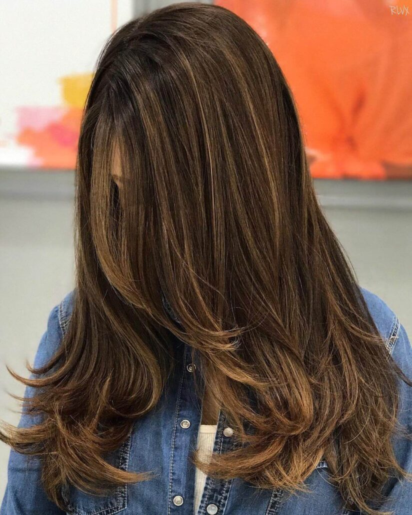 Light Mocha Waves With Thin Blonde Highlights