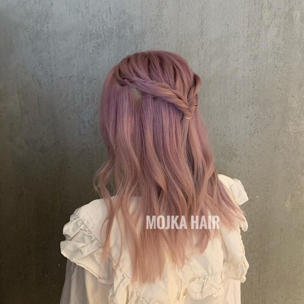 Long Hairstyle With Inherent Crown Braid