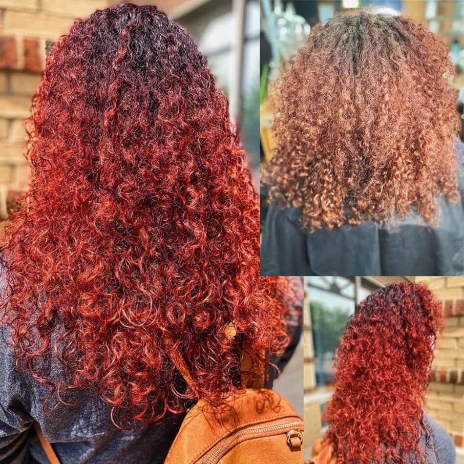 Natural Kinky Red Ombre Hair