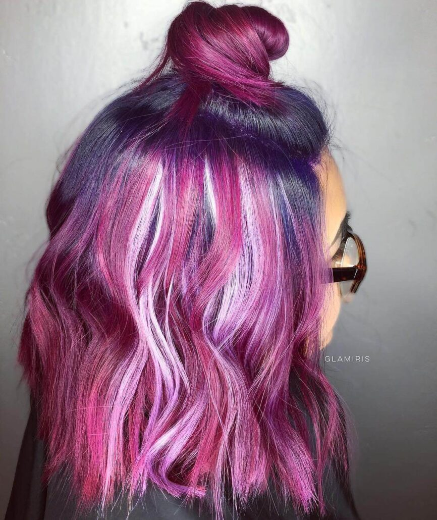 Pink & Purple Streaks
