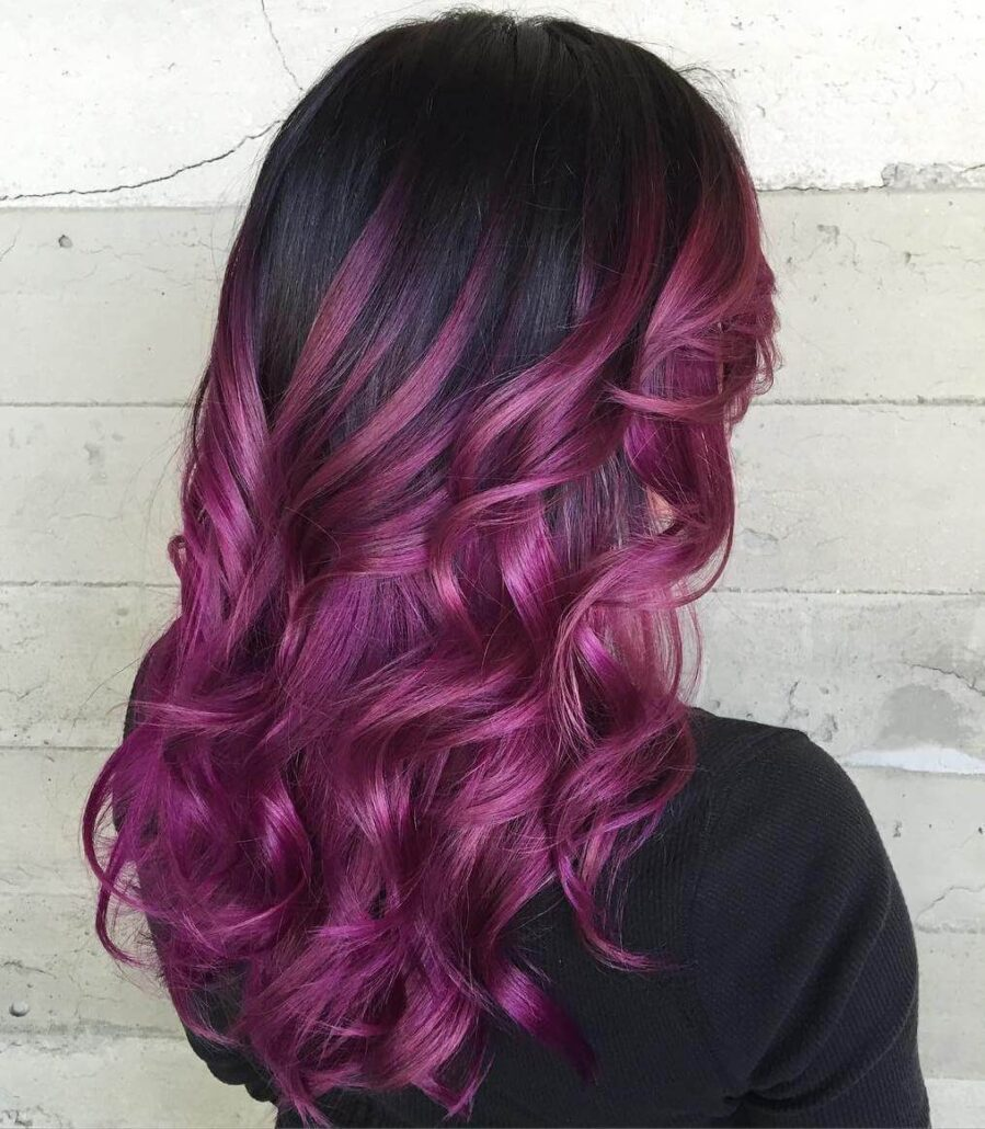 Purple Ombre Ringlets