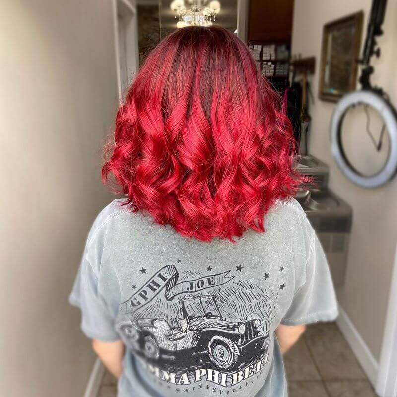 Red Hair With Wavy Back