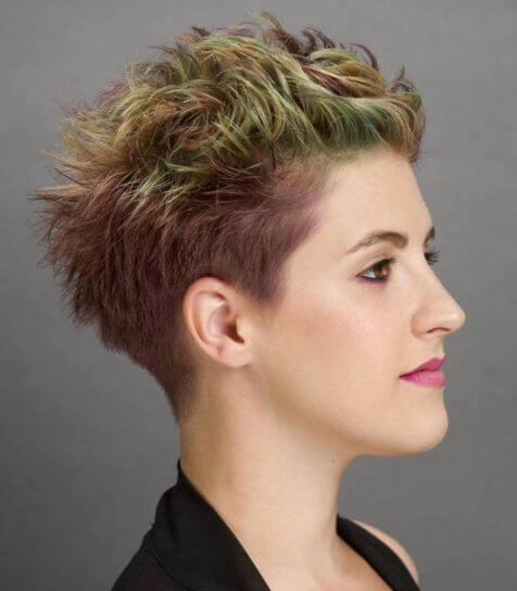 Spiky Rainbow Hairstyle With Undercut