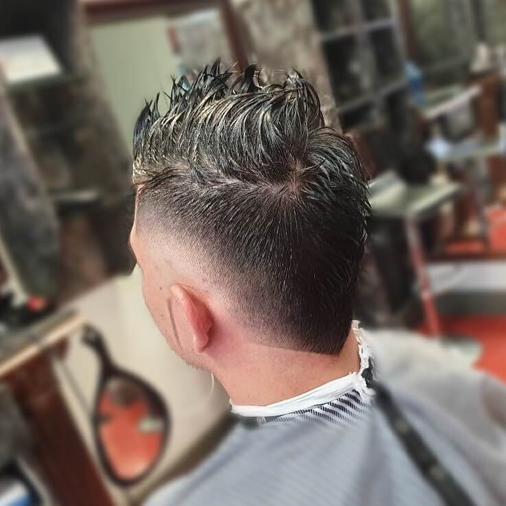 Sticky Faux Hawk With A Back Design