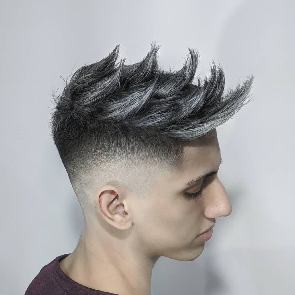 Streaky Faux Hawk With Color