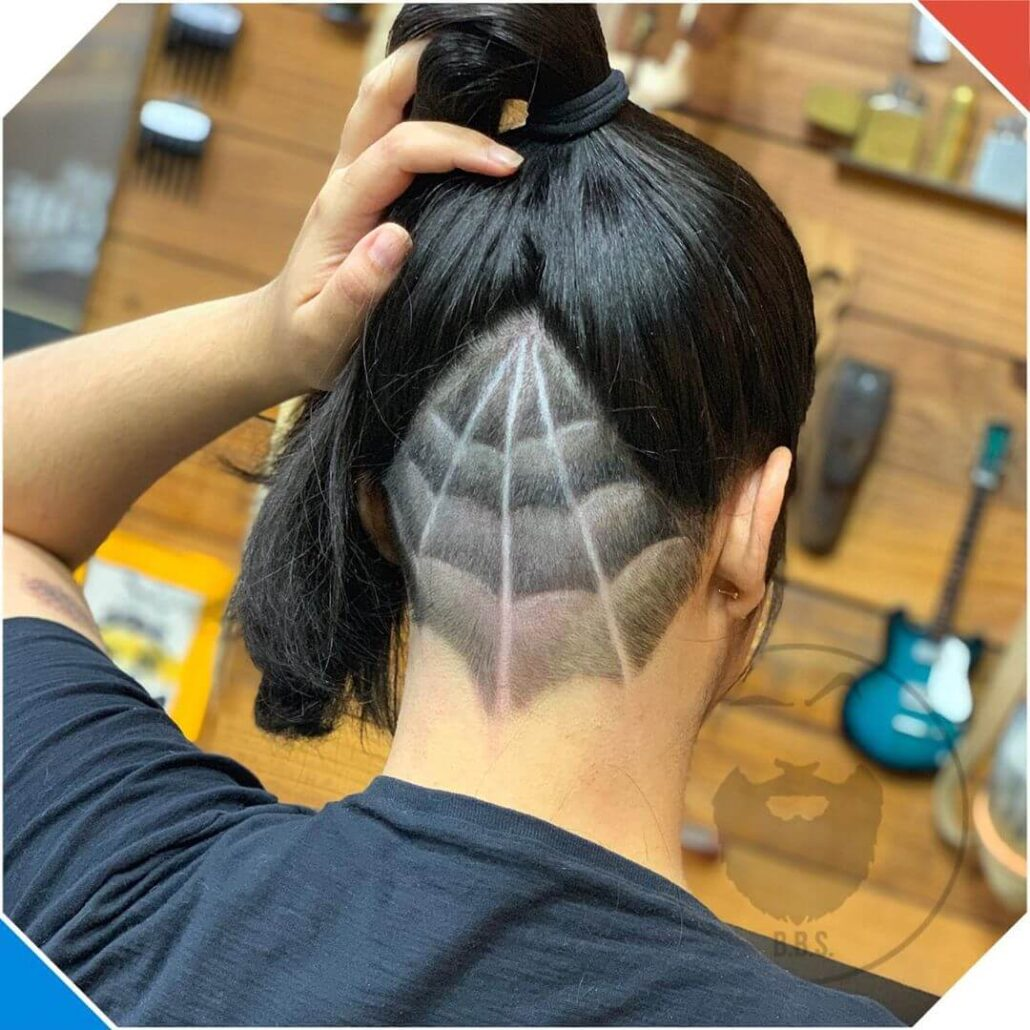 Undercut Web With High Ponytail