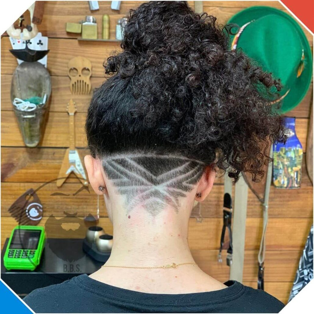 Undercut With Kinky Volume On Top