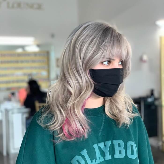 Wavy Sides With Chopped Bangs